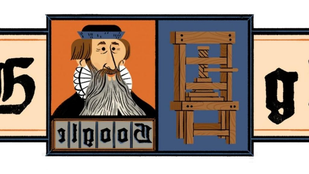 Google-Doodle has been around since the invention of the modern letterpress