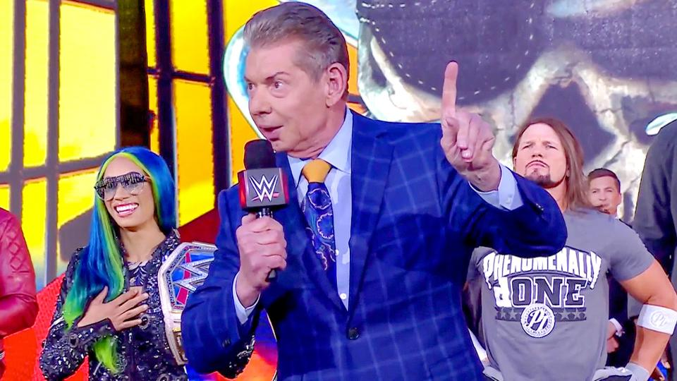 Vince McMahon and Rain welcomed fans