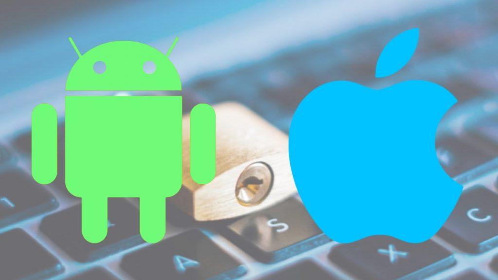 Ilustração segurança apps iOS e Android