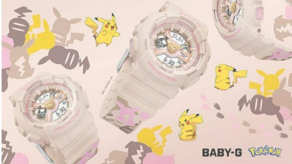 Casio launched the Pikachu-inspired Baby-G watch for the Brazilian market