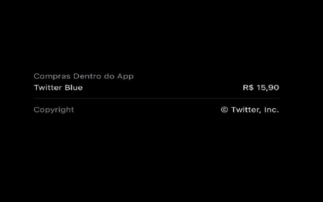 In Brazil, Twitter Blue is priced at R $ 15.90 per month, while in the US it is $ 2.99