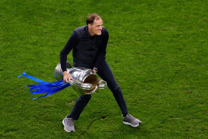 Thomas Chelsea in Porto on May 29, 2021, after Chelsea's victory in the Champions League final.