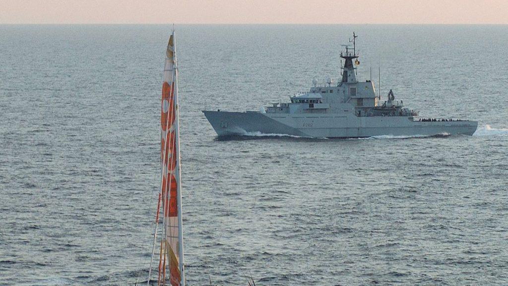 Den britiske marinen sitt skip HMS Severn