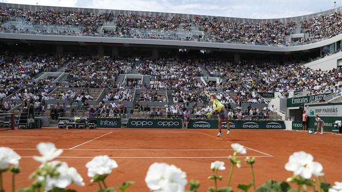 The Ball - Roland Garros: Djokovic, Nadal and Federer in the same half-frame (tennis)