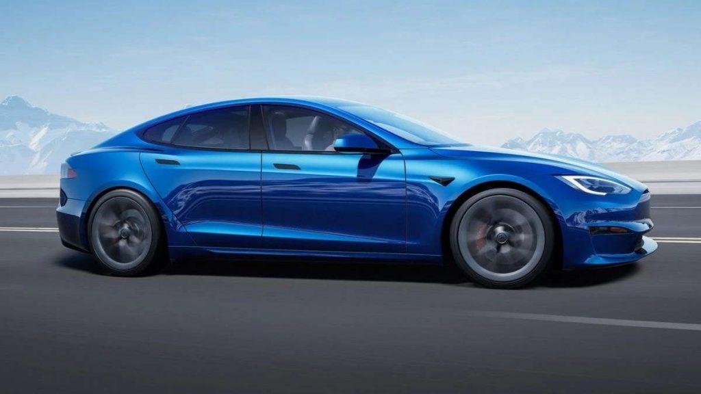 Elon Musk Tesla Model S Plaid carro
