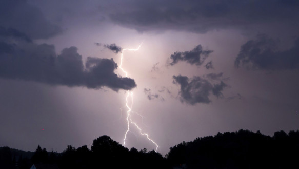 Inverted Up: Weather turned from scorching heat to stormy in Germany this weekend.