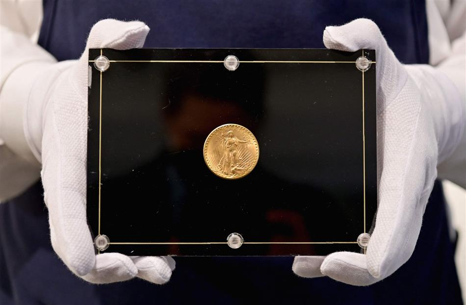 A gold coin from 1933 becomes the most expensive in the world when it sells for 15.5 million euros