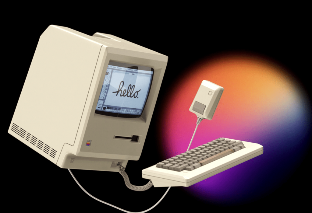 The designer created a modern commercial for the 1984 Macintosh - MacMagazine.com.br