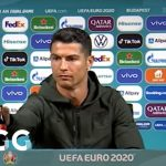 The moment Cristiano Ronaldo hides Coca-Cola bottles and says he prefers water – Nacional