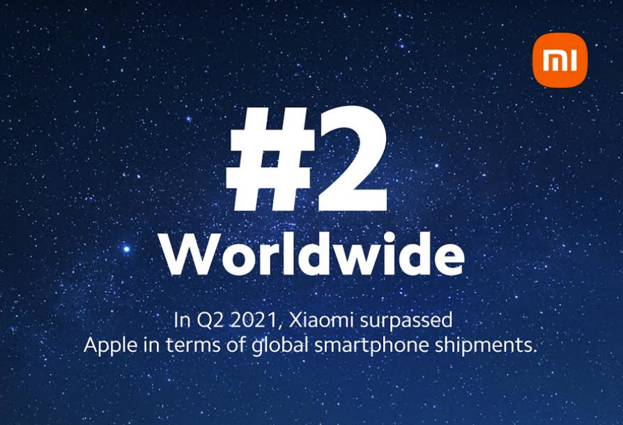 Xiaomi has already overtaken Apple and is now the second largest smartphone manufacturer