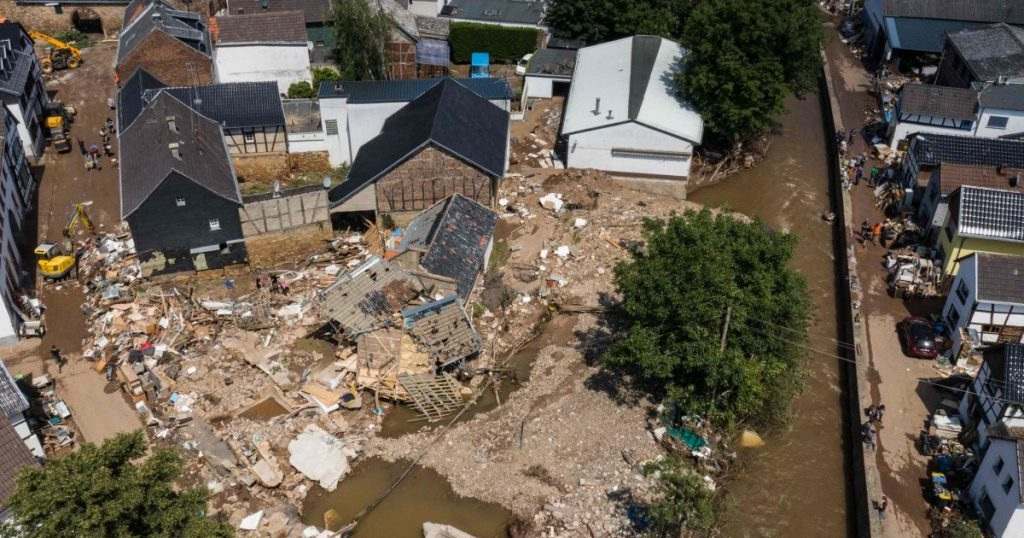 Merkel is silent about the flood areas: - surreal and ghostly