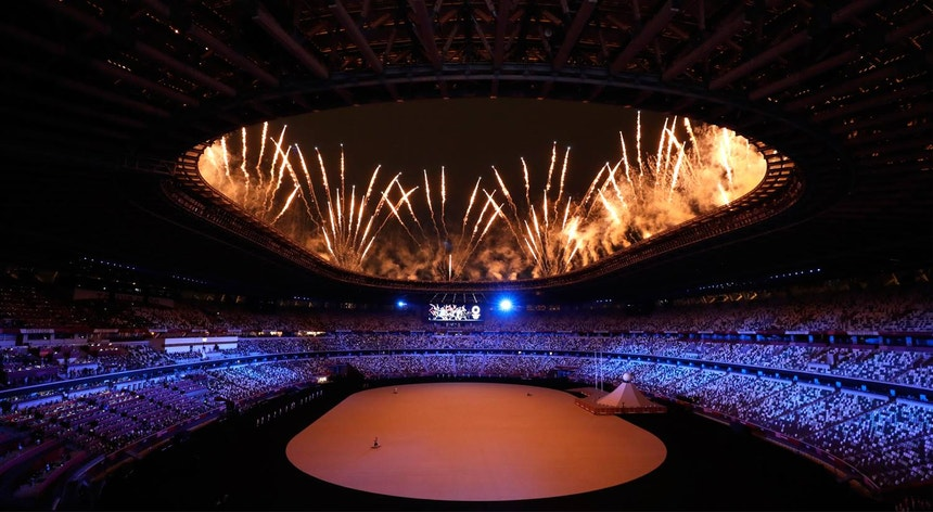 Olympic Games.  The opening ceremony accompanied by the minute