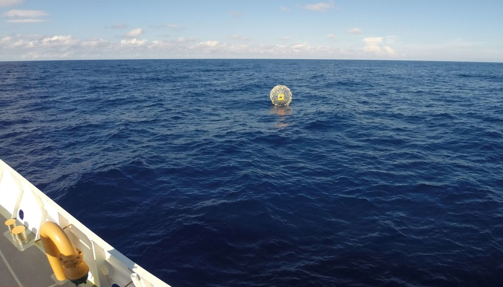 RECEIVED EMERGENCY SIGNAL: Al-Balushi had to send out an emergency signal when his bubble burst when he tried to reach Bermuda in 2014. Photo: US Coast Guard/PO3 Mark Bar/AFP/NTB