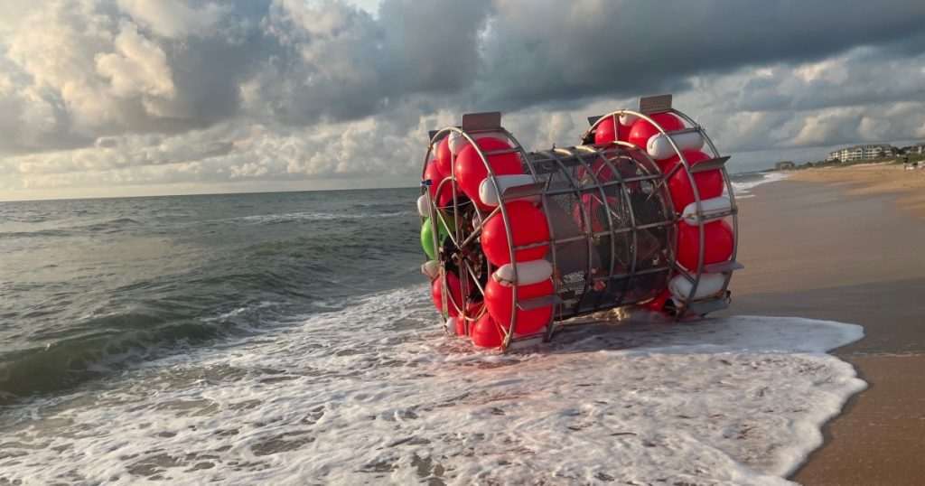 You must go from Florida to New York in a 'hamster wheel'