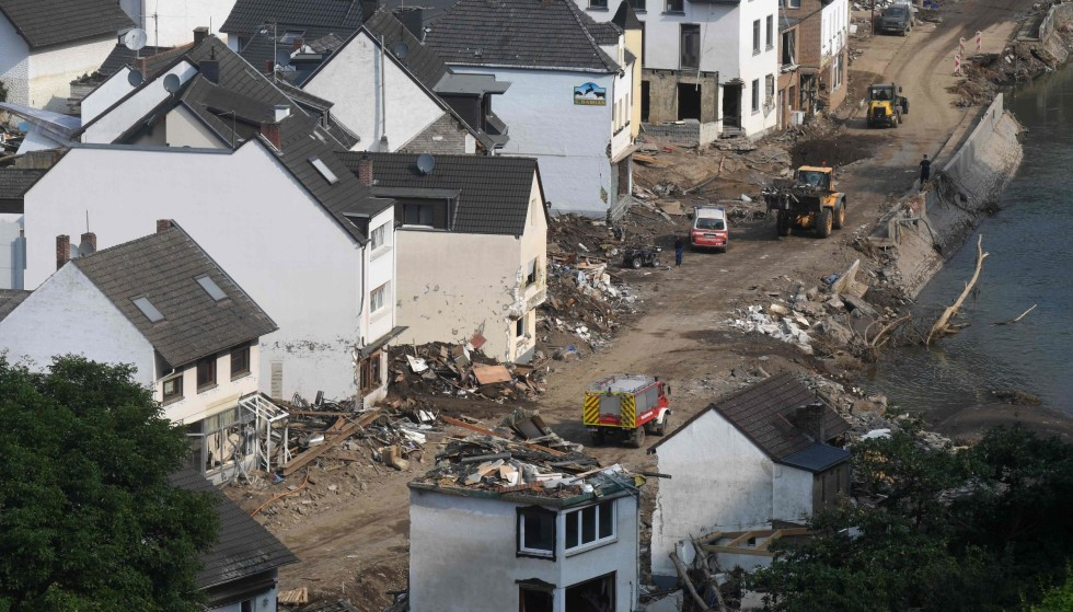 Devastation: Great devastation occurred in the city of Maichus in western Germany after the flood.  Experts believe we will see more of this in the future.  Photo: Christoph Staci/AFP/NTB