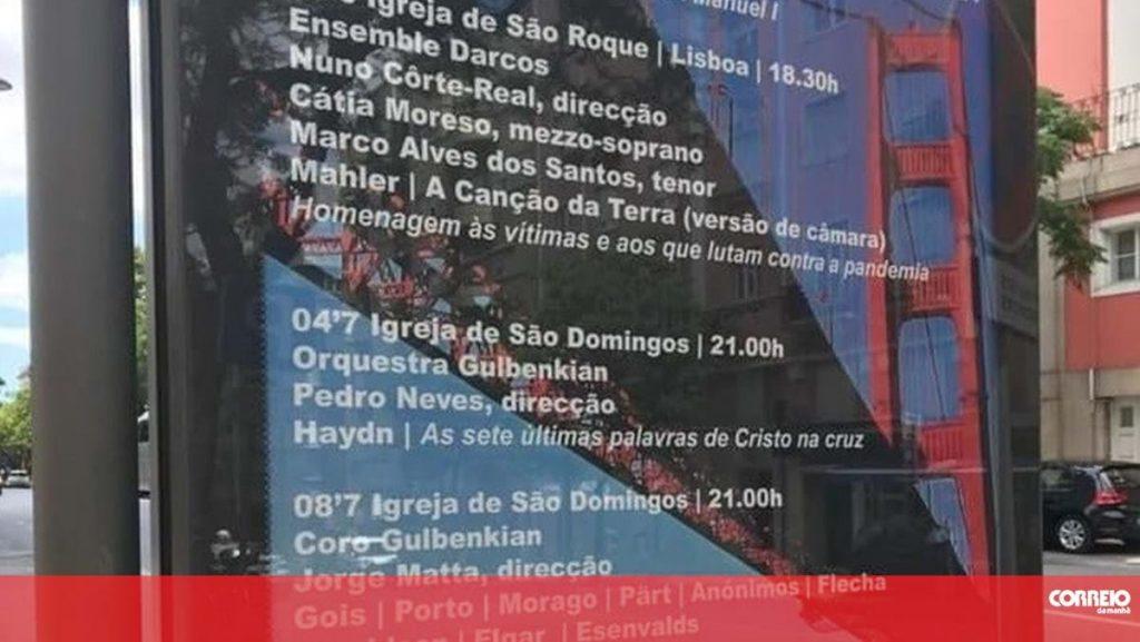 "Estoril Lisboa Music Festival exchanges 25 de Abril bridge image of ""Golden Gate"" in event poster - Insólitos"