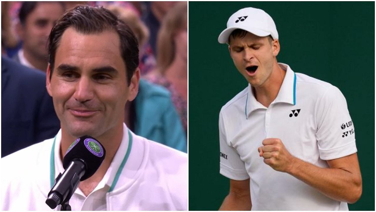 Federer's big win at Wimbledon!  Hurgas can play with a legend