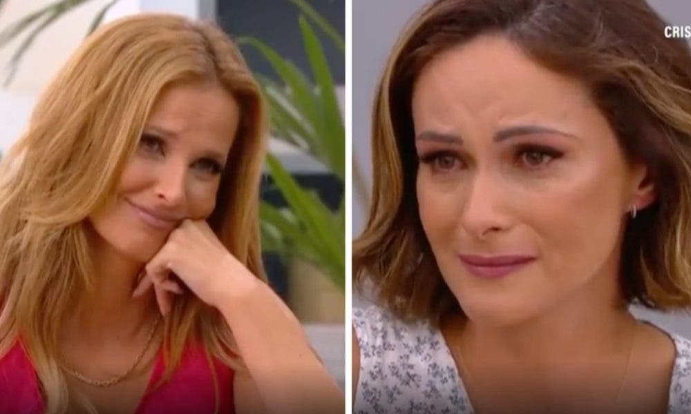 Feelings!  Helena Costa breaks down in tears as she remembers the diagnosis of a lung tumor