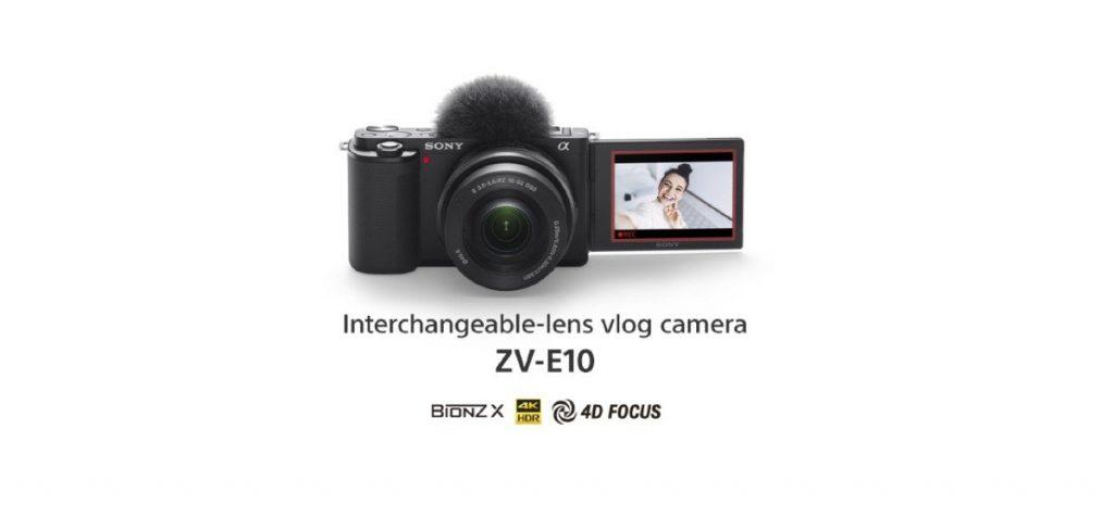 Sony anuncia câmera mirroless ZV-E10 voltada para vloggers com lentes intercambiáveis