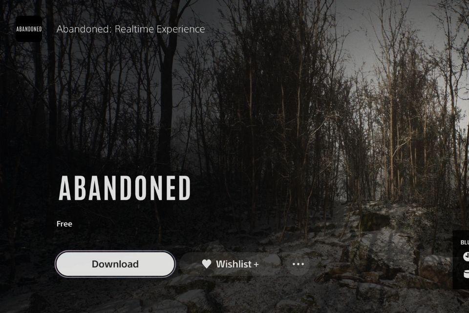 Imagem de: App do Abandoned já pode ser baixado no PS5, mas ainda sem nada