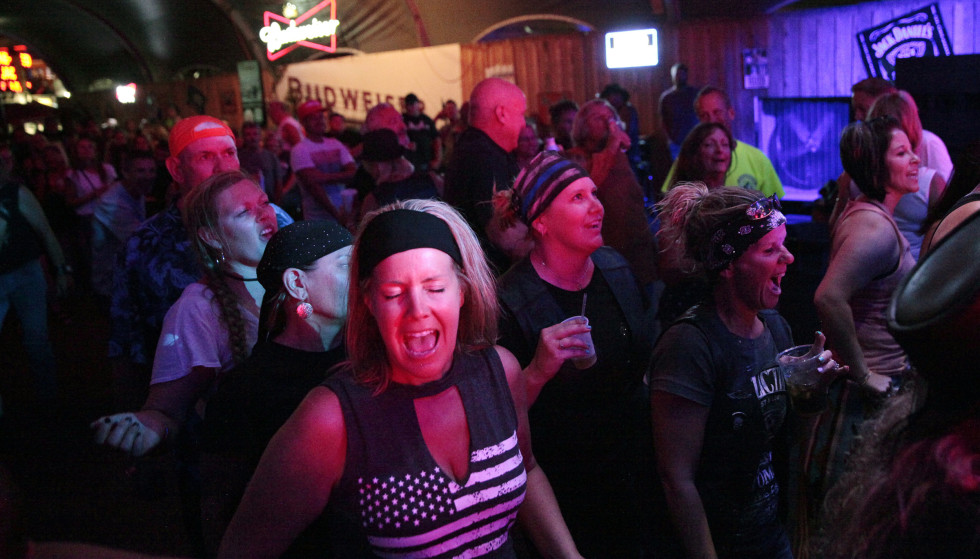 The Party: The party was in full swing on Thursday night.  Photo: Stephen Groves/AP/NTB