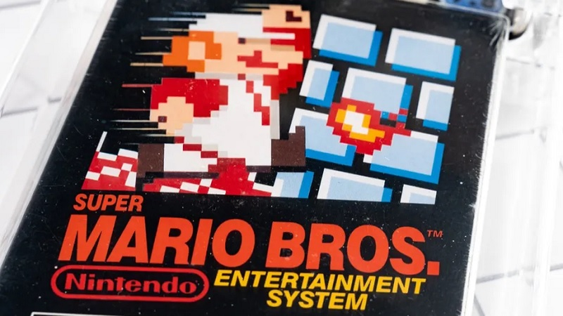 register!  An unopened copy of Super Mario Bros. has been sold.  At $2 million