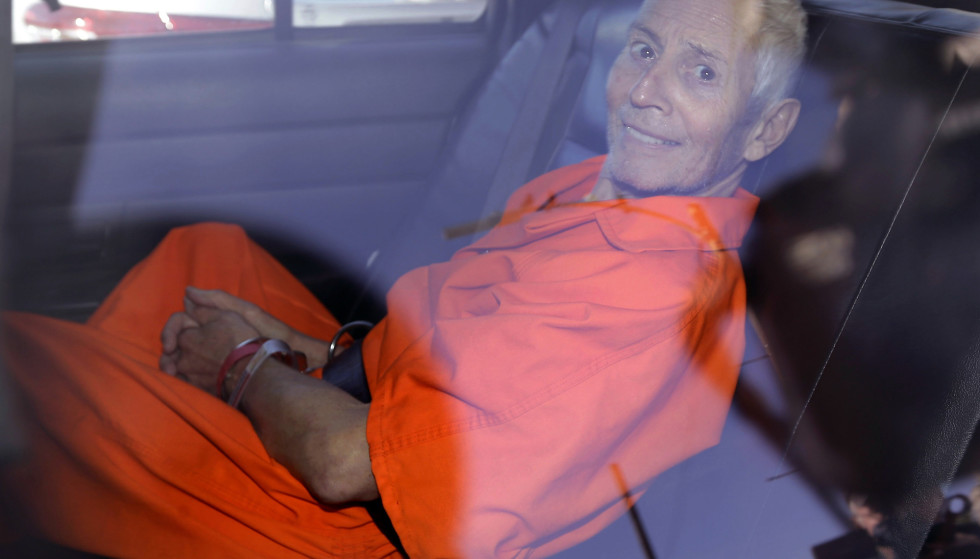 Defender: Robert Durst was photographed after receiving the indictment in 2015. The 78-year-old denies the criminal charge.  Photo: AP Photo/Gerald Herbert, NTB