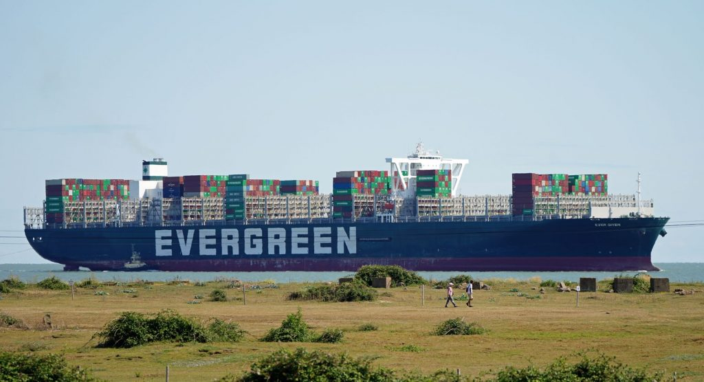 """""""Ever Given"""" is back in the Suez Canal - E24"""