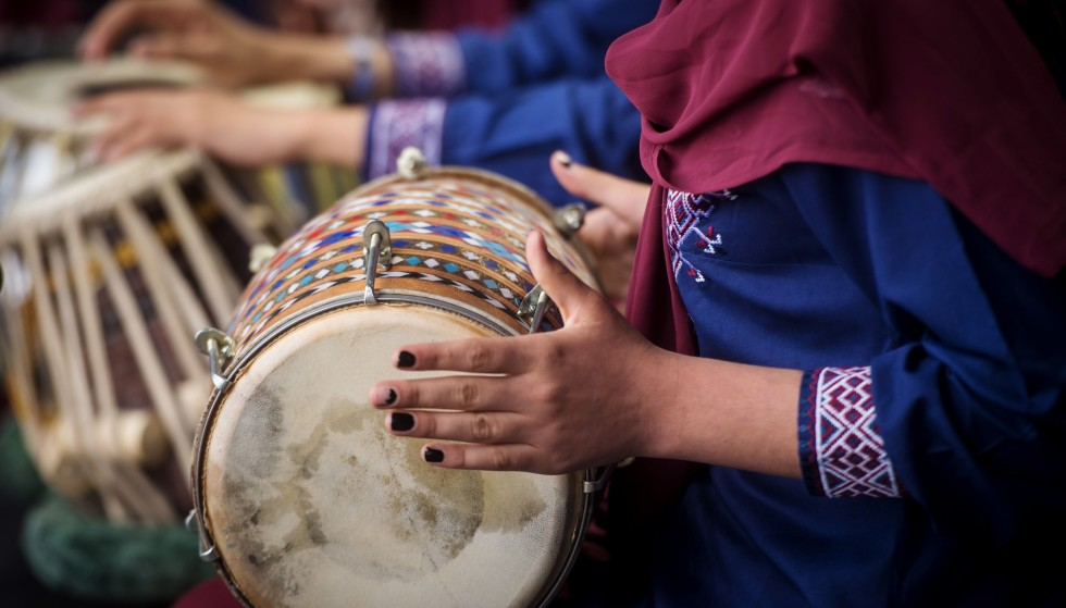 Afghan music: During a festival in Slovakia in 2019, members of the Afghan women's band Zahra participated.  Now music is again criminalized in Afghanistan.  Photo: Vladimir Simichek/AFP/NTB