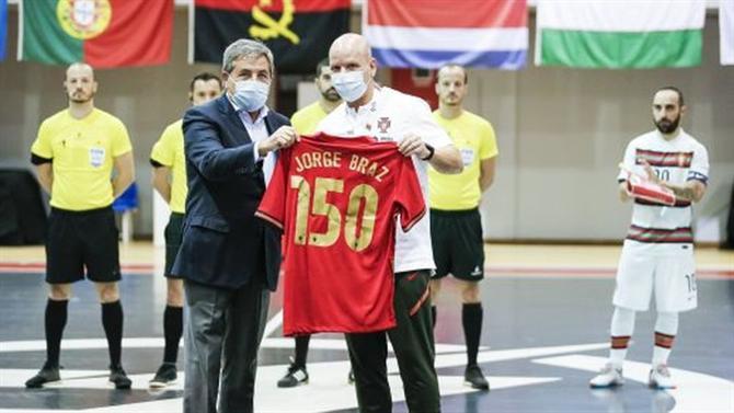 A BOLA - Portugal scores in the 150th game of the Jorge Braz era (futsal)