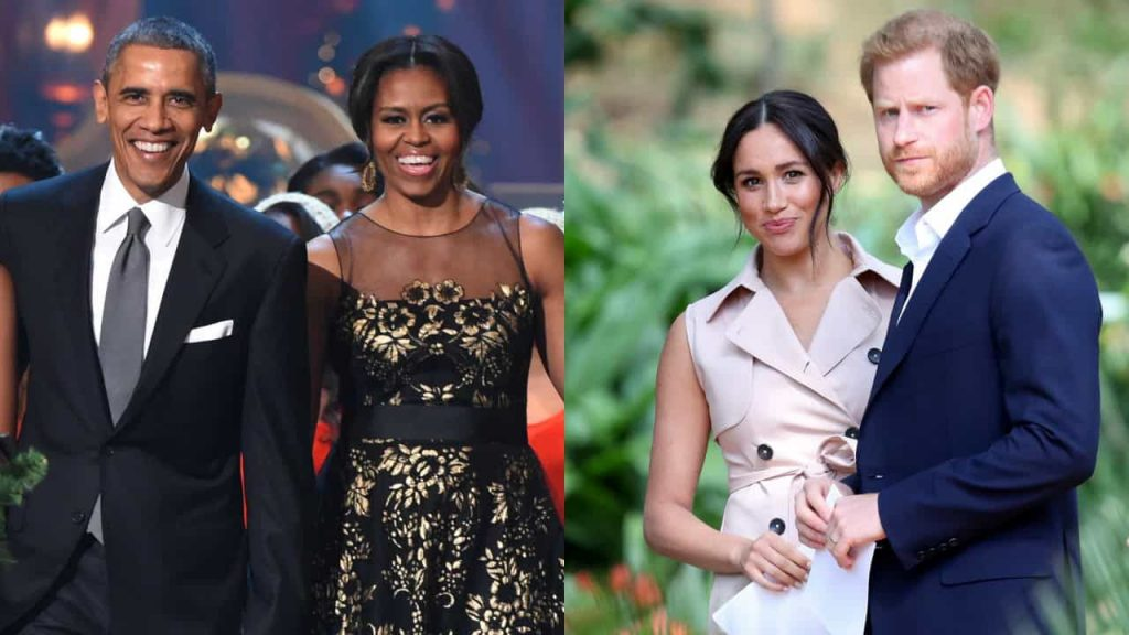 """Barack and Michelle Obama facing Prince Harry after a familiar """"scene"""""""