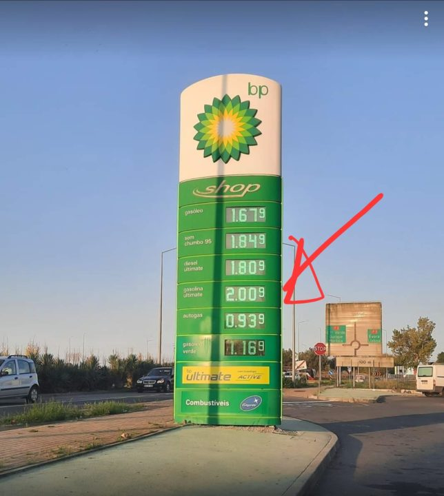 In Portugal there are already stations where fuel exceeds 2 euros / liter
